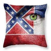 Go Mississippi Throw Pillow