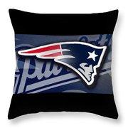 Go Patriots Throw Pillow