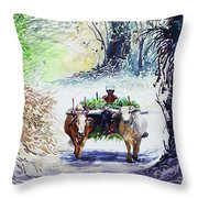 Go To Field Throw Pillow