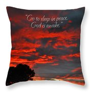Go To Sleep Throw Pillow