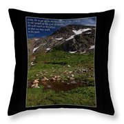 Go Up To The Mountain Of The Lord Throw Pillow