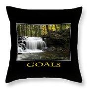 Goals Inspirational Motivational Poster Art Throw Pillow