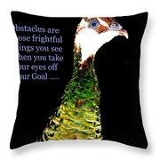 Goals Throw Pillow