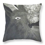Goat And Nux Throw Pillow