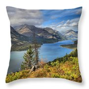 Goat Haunt Panorama Throw Pillow