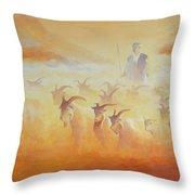 Goat Herder Throw Pillow