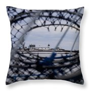 Goat Island Funnel Throw Pillow