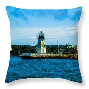 Goat Island Light House Throw Pillow