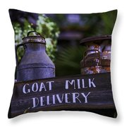 Goat Milk Delivery Throw Pillow