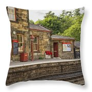 Goathland Railway Station, Train Station From Harry Potter Throw Pillow