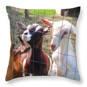 Goats Throw Pillow