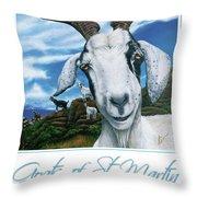 Goats Of St. Maarten- Andre Throw Pillow
