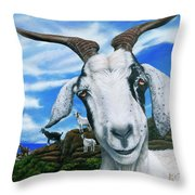 Goats Of St. Martin Throw Pillow