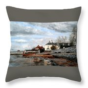 Goats Walk Topsham Devon Throw Pillow