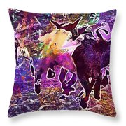 Goats Wildpark Poing Young Animals  Throw Pillow