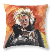Goblin King At His Best Throw Pillow