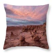Goblin Sunset Throw Pillow