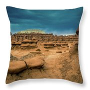 Goblin Valley State Park Throw Pillow