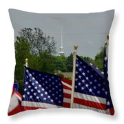 God And Country Throw Pillow