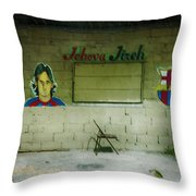 God And Futbol Throw Pillow
