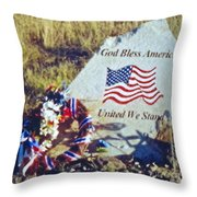 God Bless America Throw Pillow