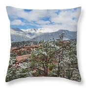 God Boreas Chilling The Air With His Icy Breath Throw Pillow