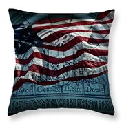 God Country Notre Dame American Flag Throw Pillow