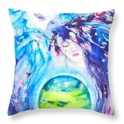 God, Goddess, Earth Ripple Effect Throw Pillow