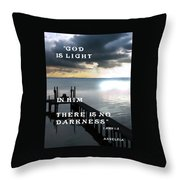 God Is Light Throw Pillow