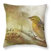 God Is My Refuge Throw Pillow