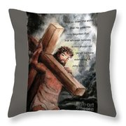 God So Loved The World Throw Pillow