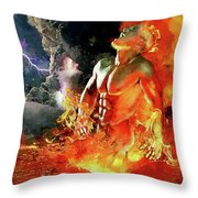 God Of Fire Throw Pillow