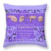 God Of Hope Spanish Throw Pillow