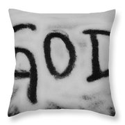 GOD Throw Pillow
