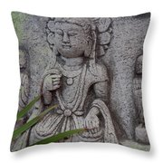 God Shiva Throw Pillow by Susanne Van Hulst