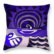God Smiling On The Water Throw Pillow