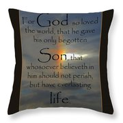 God So Loved Throw Pillow