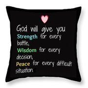 God Will Give You Strength T-shirt Throw Pillow