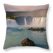 Godafoss In Iceland Throw Pillow