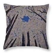 Goddess Forest Throw Pillow