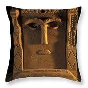 Goddess Hayyan Idol From The Temple Throw Pillow