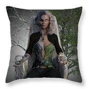 Goddess Hel Throw Pillow