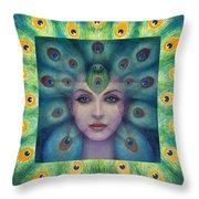 Goddess Isis Visions Throw Pillow