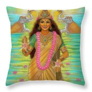 Goddess Lakshmi Throw Pillow