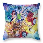 Goddess Of 21st C Throw Pillow
