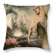 Goddess Of Bliss  Throw Pillow