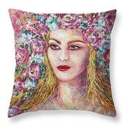 Goddess Of Good Fortune Throw Pillow