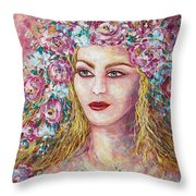 Goddess Of Good Fortune Throw Pillow