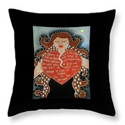 Goddess Of Grief Throw Pillow