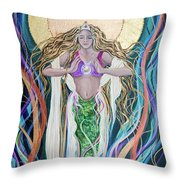 Goddess Of Intention Throw Pillow